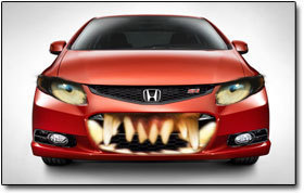 Car facial expressions (Image by Cracked)