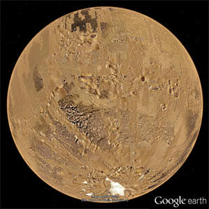 Mars via Google Earth