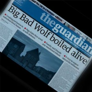 The Guardian Three Little Pigs video (image The Guardian via YouTube)