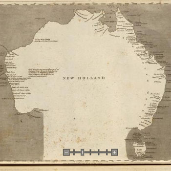 Old Australia 1804 - New Holland (Arrowsmith's chart of Pacific Ocean)