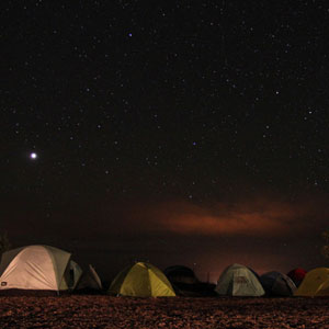 Sleep while camping - Image: Lazurite via The Conversation